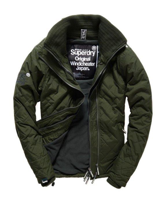 [男款] 英國代購 極度乾燥 Superdry Quilted Arctic Windcheater 男士 絎縫防風衣夾克 森林綠