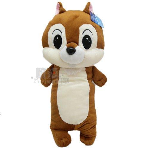 【真愛日本】12121000034 3號全身長抱枕50cm奇奇 迪士尼 花栗鼠 奇奇蒂蒂 松鼠 長抱枕 娃娃
