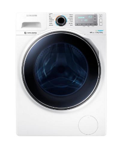 ★2016/2/29前回函贈好禮! Samsung 三星 炫藍廣角門系列 12KG 滾筒洗衣機 亮麗白  WD12J8430GW/TW /一鍵洗衣槽清潔/雙區控制面板