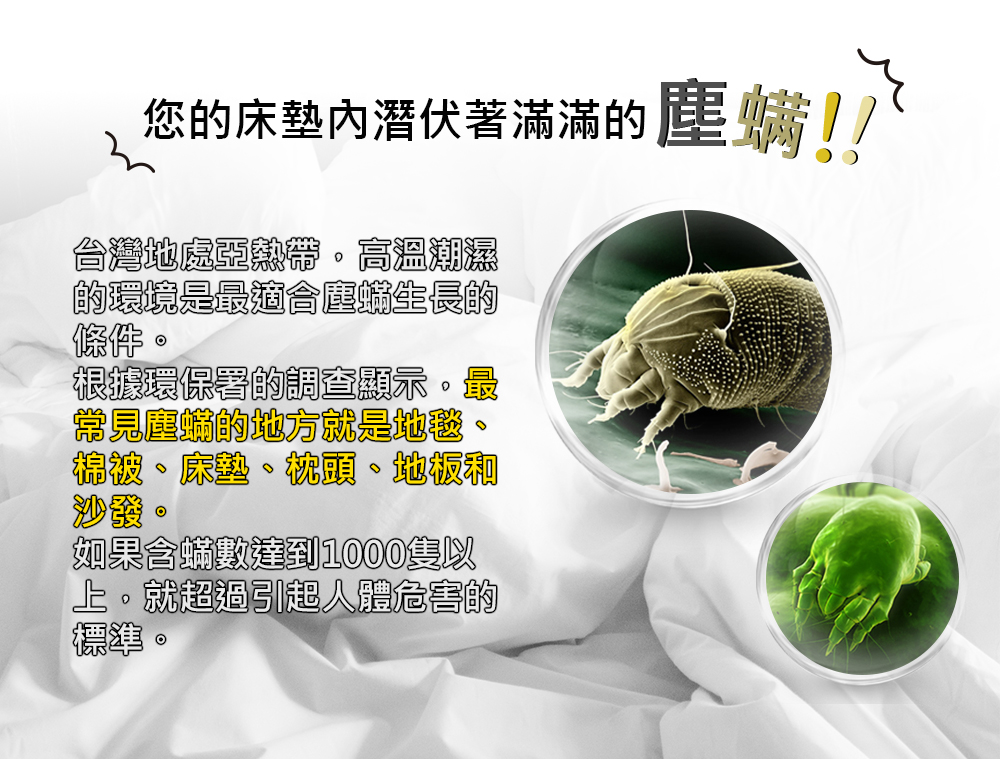 塵螨與細菌都在您環境周圍,您曉得嗎?