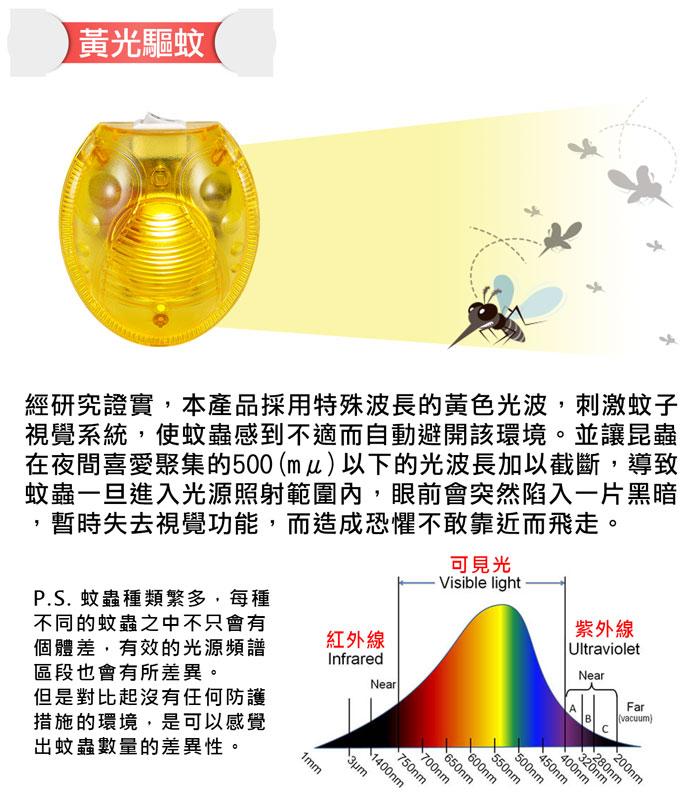 黃光驅蚊器,驅離蚊蟲