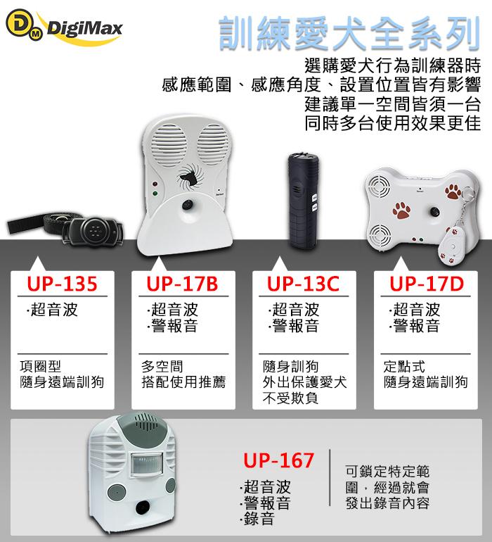 DigiMax,寵物行為訓練器,語音,超音波,警報音,UP-167,錄音式,定點式訓練器,行為訓練器