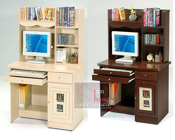 【尚品家具】GF-A1819 幸運草 3尺電腦桌(上+下座)~胡桃、白橡、雙色、雪山白,4色可選/書桌/Desk