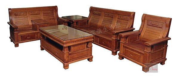 【尚品傢俱】831-01 梅斯 全實木1+2+3+大小茶几木椅組/客廳木製桌椅組/居家木組椅