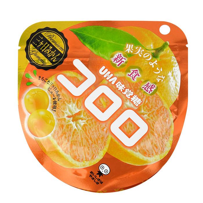 [人氣日本零食]UHA味覺糖100%果汁蜜柑軟糖  40g *期間限定*