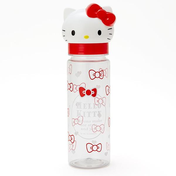 【真愛日本】16050300007立體造型直飲冷水瓶380ml-KT紅  三麗鷗Hello Kitty凱蒂貓 水瓶 水壺