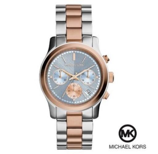 美國Outlet 正品代購 Michael Kors MK 三眼 雙色精鋼 滿鑽 手錶 腕錶 MK6166
