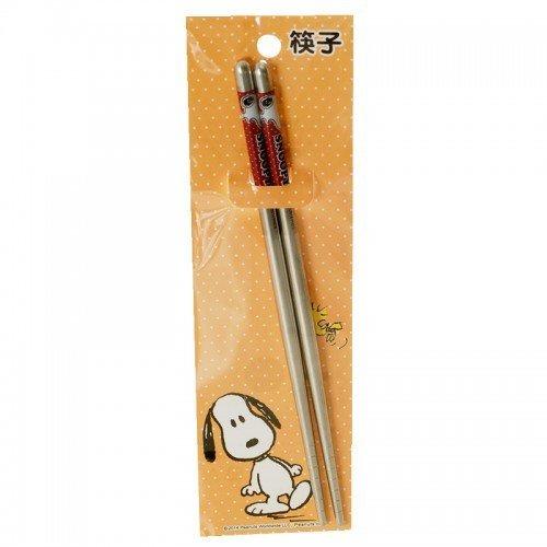 【真愛日本】14121100028 SN不鏽鋼筷子-點點咖 史奴比 史努比 SNOOPY 餐具 筷子 廚房用品