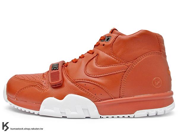 2015 NIKE LAB 限量發售 藤原浩 提案設計 NIKE AIR TRAINER 1 MID SP FRAGMENT DESIGN 橘紅 橘紅白 閃電 皮革 黏扣帶 多功能訓練鞋 法網 (806942-881) !