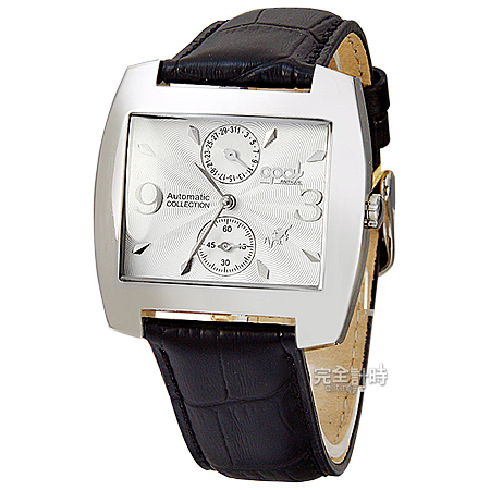 完全計時手錶館│OPAL破盤特賣 自動機械錶(方酒桶/波紋錶面/上日期下小秒) OP4988白面