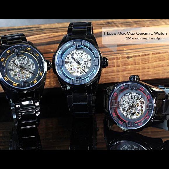完全計時手錶館│Max Max 鑽石切割立體鏡面 機械鏤空錶 MIYOTA機芯 MAS7005AT