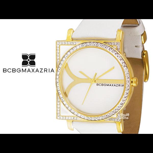 【完全計時】手錶館│BCBGMAXAZRIA 奢華時尚腕錶 方型貝殼面玫瑰金 下殺BG6244