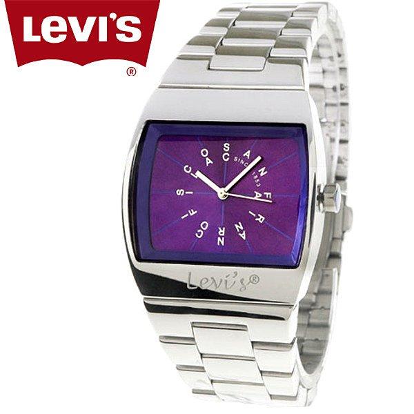 【完全計時】手錶館│LEVI'S 時尚多彩英文時標不鏽鋼腕錶 紫面LTF0410