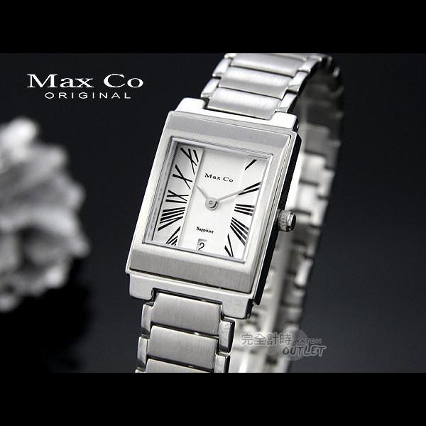 【完全計時】手錶館│Max Co 時尚簡約方層腕錶 MAS315 黑色羅馬-女錶