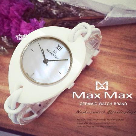 【完全計時】手錶館│Max Max 陶瓷&珍珠母貝 極簡手鍊式腕錶 MAS4018