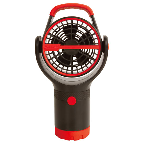 【露營趣】中和 附手電筒 Coleman BATTERYLOCK杯架風扇/萊姆綠 電風扇 小吊扇 CM-27315