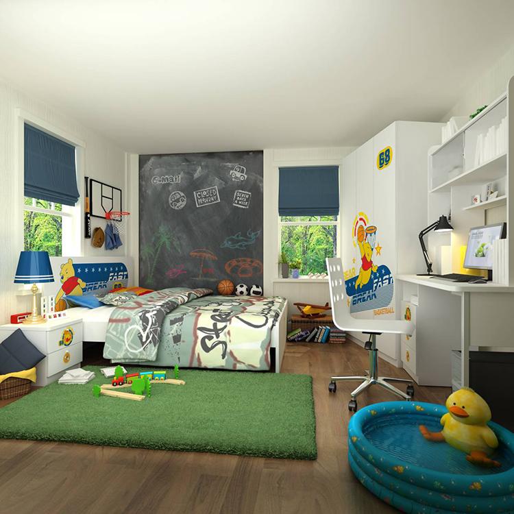 [首雅傢俬] 維尼 大灌籃 雙人 房間組 含 5尺 雙人床、三門衣櫃、床邊櫃、書桌(含上書架)