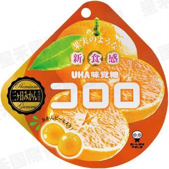 X射線【C662896】UHA 味覺柑橘軟糖,點心/零嘴/餅乾/糖果/韓國代購/日本糖果/零食/伴手禮/禮盒