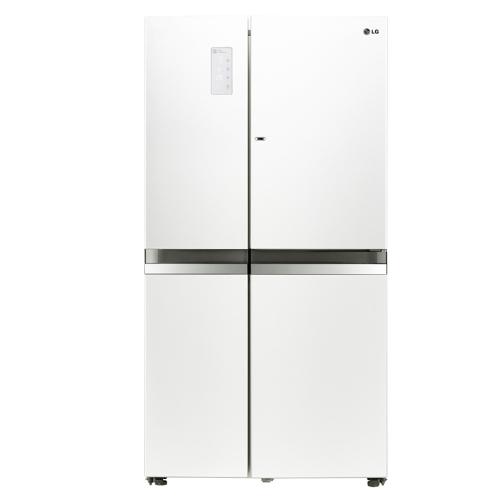 買再送好禮!LG 樂金 825L門中門魔術空間對開冰箱-晶鑽白【GR-DB78W】【小蔡電器】