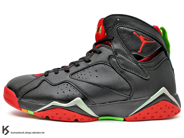 2015 重新復刻 全新配色 NIKE AIR JORDAN 7 VII RETRO MARVIN THE MARTIAN 男鞋 黑紅綠 火星人 馬文 AJ (304775-029) !