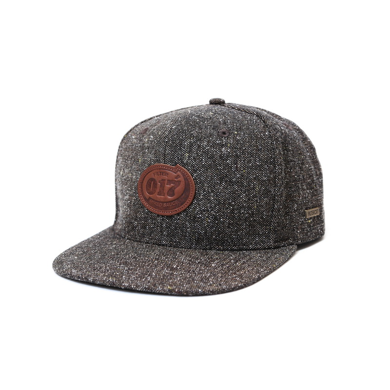 ►法西歐_桃園◄ Filter017 Snapback 皮標毛料棒球帽 皮革 皮牌 混紡 麻花 棕 咖啡 灰 黑 二色 棕