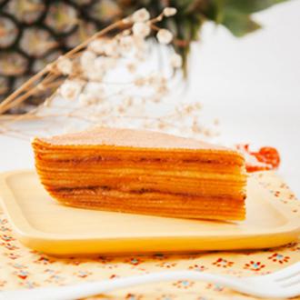 南洋系千層甜派(鳳梨微酸)|艷麗南洋手作鹹食甜點|酸酸甜甜屏東土鳳梨,手工熬煮新鮮餡料,搭配千層的軟嫩與蛋香,是充滿幸福的酸甜滋味|無使用鮮奶油|低澱粉含量|印尼千層蛋糕|南島系派塔