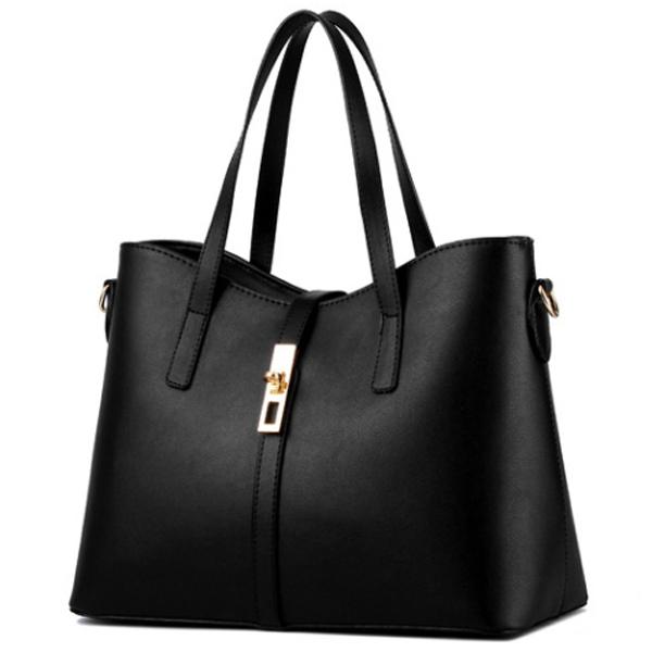 手提包-簡約時尚五金金屬鎖扣側背包-共5色-9005- J II
