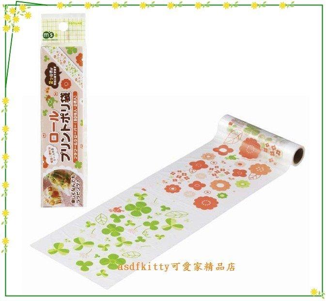 asdfkitty可愛家☆日本MSA小花 幸運草 盒裝塑膠袋/點心袋/包裝袋-裝麵包.餅乾.糖果-日本正版