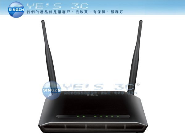 「YEs 3C」全新 D-Link 友訊 DIR-612 雙天線 5dBi 無線寬頻路由器 QoS  yes3c