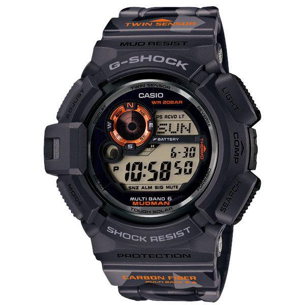 CASIO G-SHOCK GW-9300CM-1DR迷彩蛙人電波數位流行腕錶/50mm