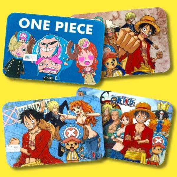 正版卡通長毛絨腳踏墊【One Piece航海王/海賊王】魯夫 娜美 騙人布 布魯克 喬巴 索隆 香吉士 羅賓 佛朗基 草帽一夥 兩年後 路飛~華隆