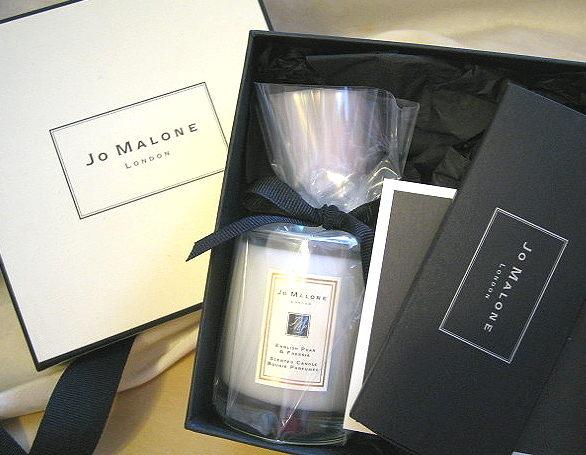 *禎的家*英國夢幻香水名牌 Jo Malone  英國梨與小蒼蘭 香氛蠟燭 60g 原廠禮盒