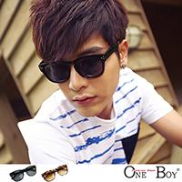 『 One Boy 』【ZU5524】韓系街頭基本款質感鉚釘太陽眼鏡 2色