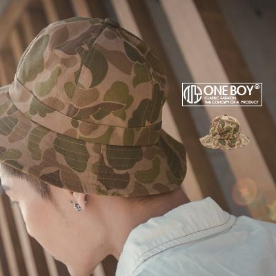 『 One Boy 』【NU3015】新秋著暖系迷彩品味漁夫帽