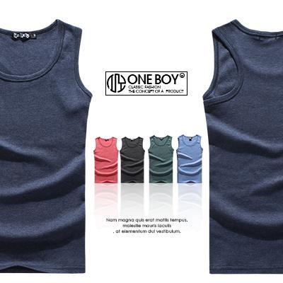 『 One Boy 』【N30052】簡約款無印風味挖背背心