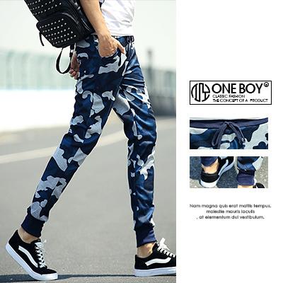 『 One Boy 』【N3201】實搭迷彩詮釋綁帶束口褲