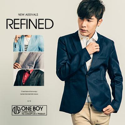 『 One Boy 』【N207】潮流風雅素概念實搭西裝外套