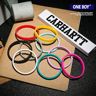 『 One Boy 』【N4566】春夏紛色男款女加分矽膠手環