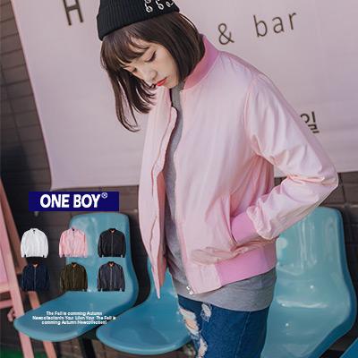 『 One Boy 』【O160115】原創獨具純色新作MA1飛行夾克