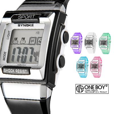 『 One Boy 』【N66188】元素粒狀概念透膚感電子果凍錶