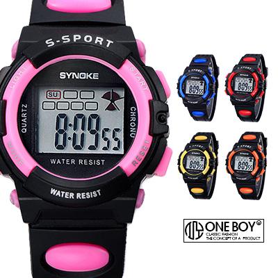 『 One Boy 』【N99268】簡約果漾繽紛撞色系電子腕錶 5色