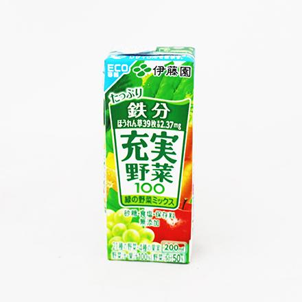 【敵富朗超巿】伊藤園 充實蔬果汁-綜合綠色野菜