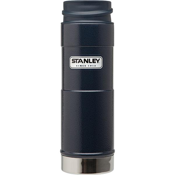 ├登山樂┤ 美國 Stanley 經典單手保溫咖啡杯 0.35L - 錘紋藍  #10-01569-BL