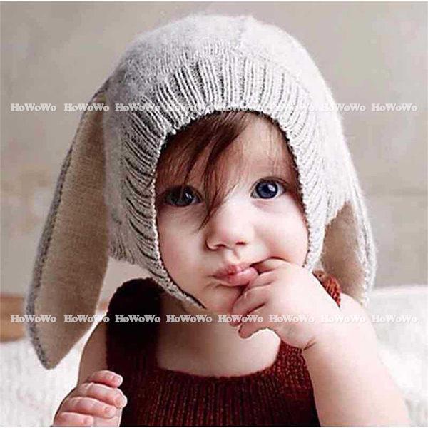 寶寶帽  兔耳朵針織毛線帽 造型嬰兒帽 童帽 套頭帽 BU1555