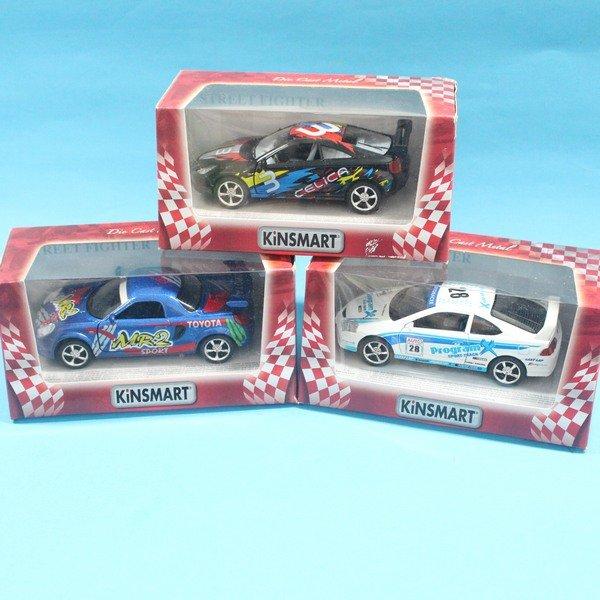 TOYOTA豐田 STREET FIGHTER 跑車合金車 1:36模型車 KT5072 迴力車 汽車模型(紅盒)/一台入{促199}