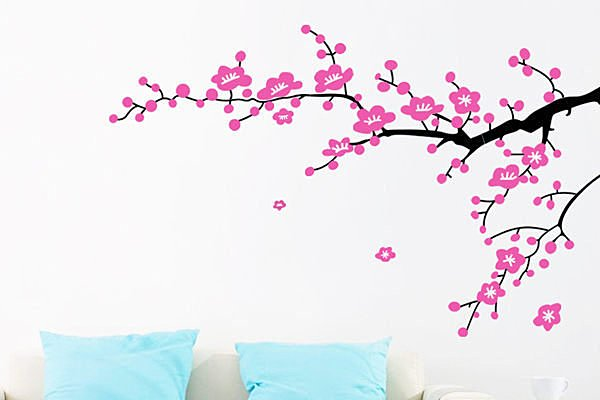 BO雜貨【YP1783】DIY創意可移動壁貼 牆貼 背景貼 壁貼樹 時尚組合壁貼 璧貼 梅花