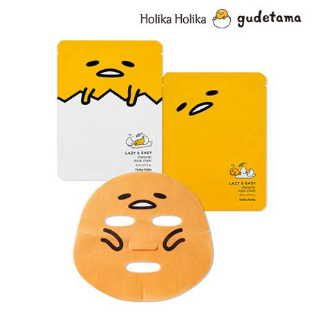 數量限定 韓國 Holika Holika 蛋黃哥慵懶系面膜 23ml 款式圖案隨機 面膜 蛋黃哥聯名款【B061950】