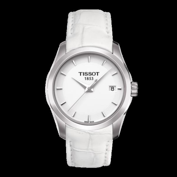 TISSOT天梭T0352101601100 建構師優雅經典石英腕錶/白面32mm