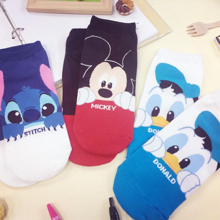 PGS7 (現貨+預購) 迪士尼系列商品 - 迪士尼 正韓 偷看 造型 短襪 隱形襪 襪子 米奇 唐老鴨