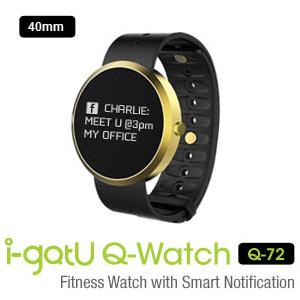 i-gotU Q-Watch Q72 新一代藍牙智慧健身手錶 ◆OLED顯示螢幕 ◆內建UV感應器